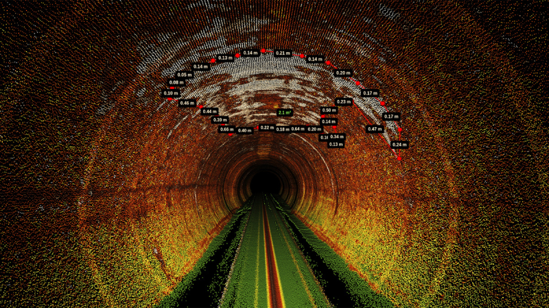Point cloud captured in sewer